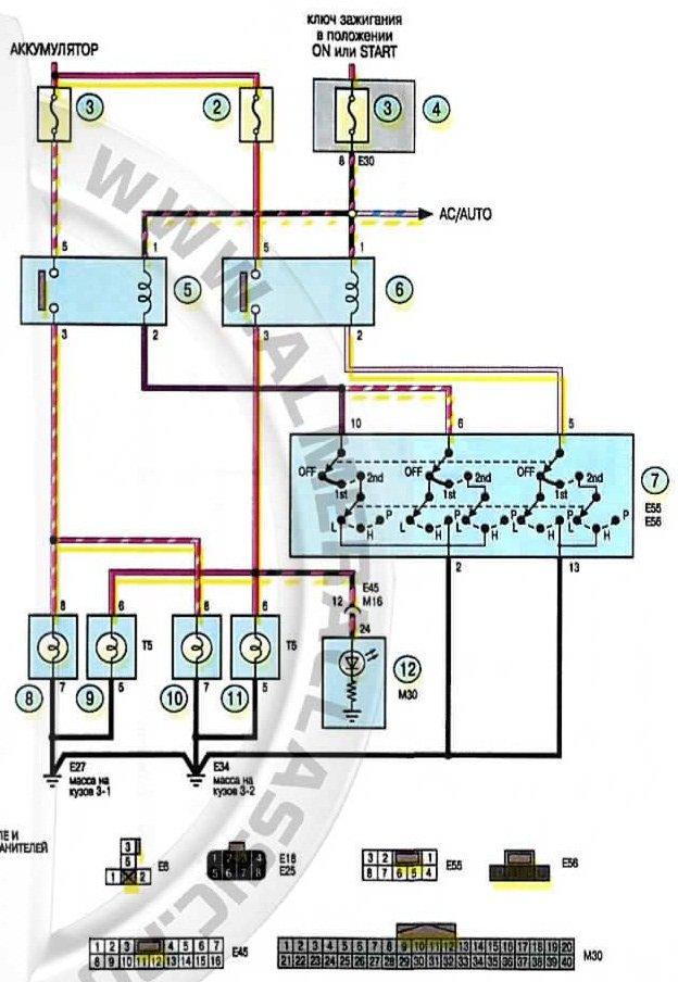 Схема установки противотуманные фары на альмера классик
