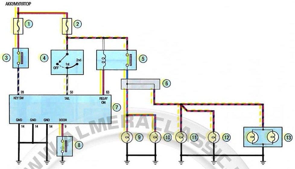 Схема электрокорректора фар ваз